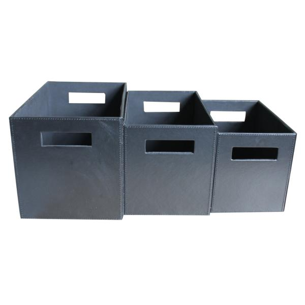 Opbevaringskasser i sort, 33x22x33cm
