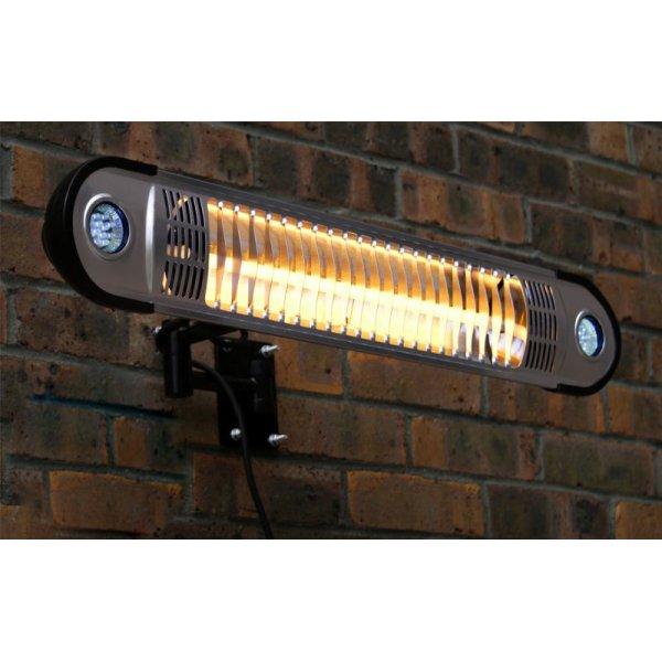 Terrassevarmer med LED-lys