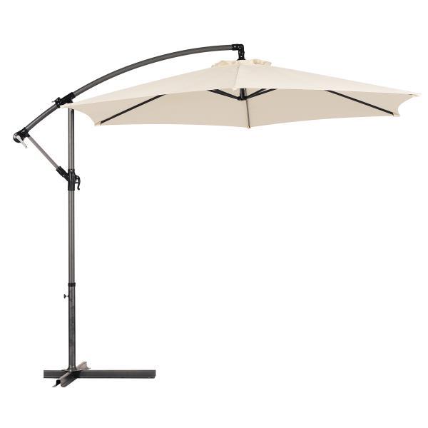 Hængeparasol sand 3m parasol