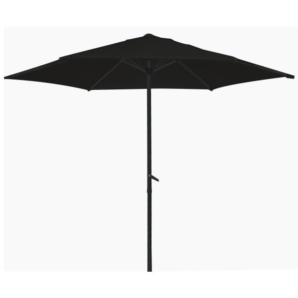 Parasol, sort 2,7m  parasol