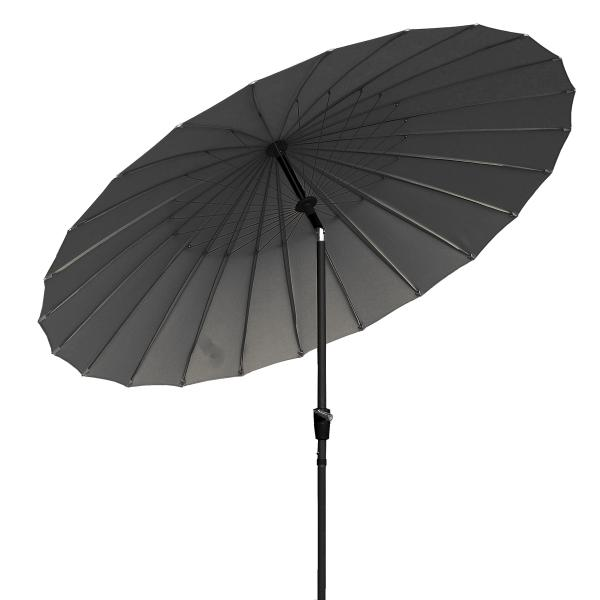 Shanghai parasol grå 2,7m parasol