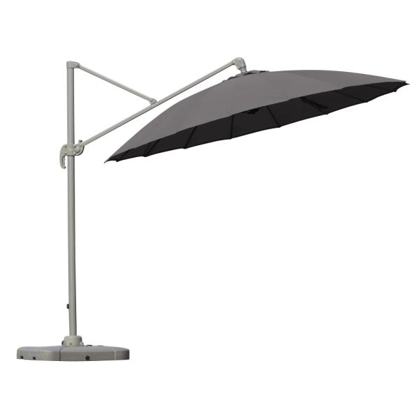 Roma hængeparasol Lux, grå parasol
