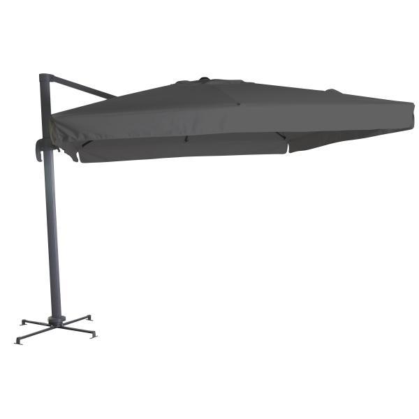 Firkantet hængeparasol grå 3M parasol