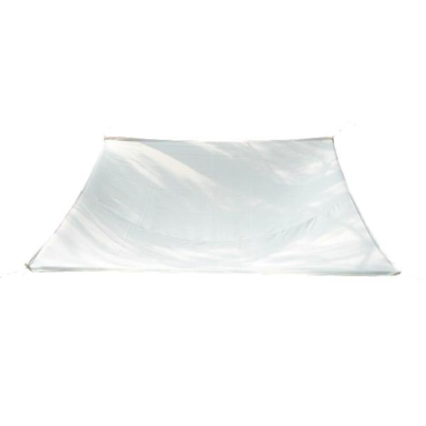 Solsejl hvid LUX 3,6x3,6m solsejl