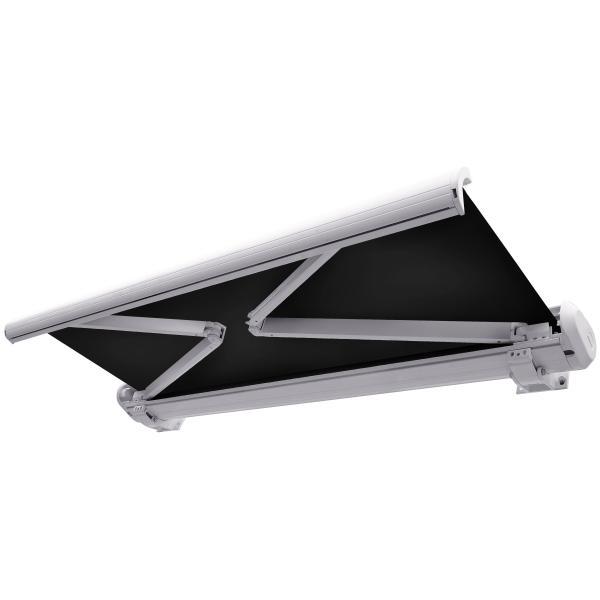 Elektrisk markise lukket 250x200cm sort/hvid