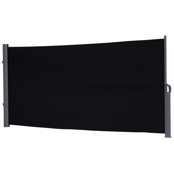 Essence læsejl lukket 400x180cm sort/antracitgrå læsejl