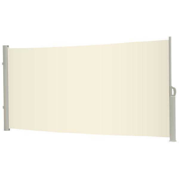 Essence læsejl lukket 400x160cm creme/hvid læsejl