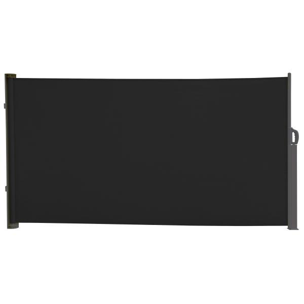 Essence læsejl åben 300x160cm sort/antracitgrå