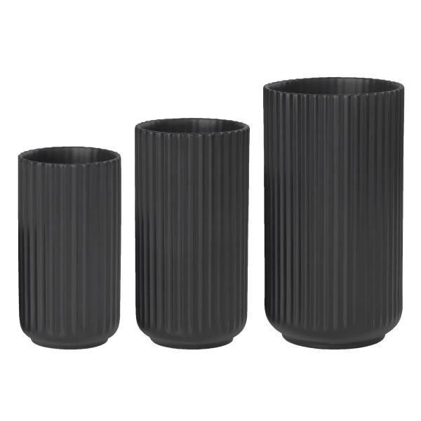 Lyngby vase sæt sort