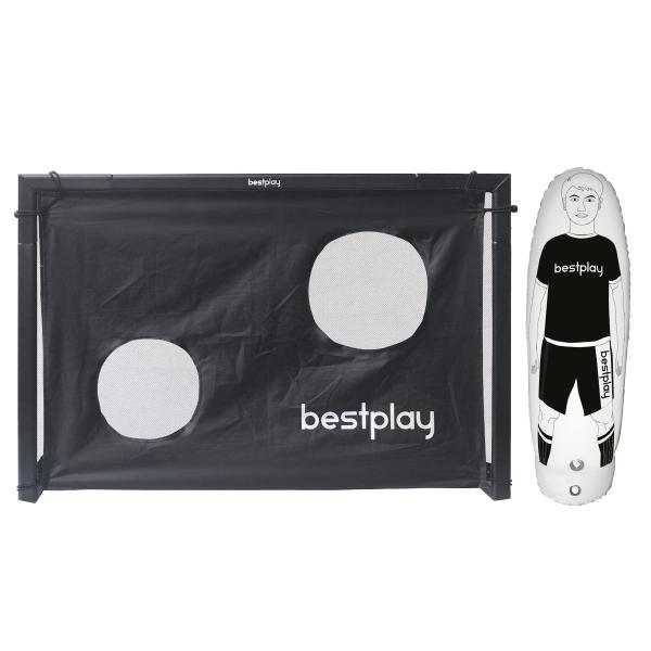 Bestplay fodboldmål 150x100cm + air dummy