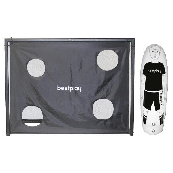 Bestplay fodboldmål 220x170cm + air dummy