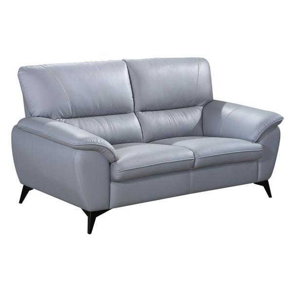 Preston 2 pers. sofa lysegrå læder