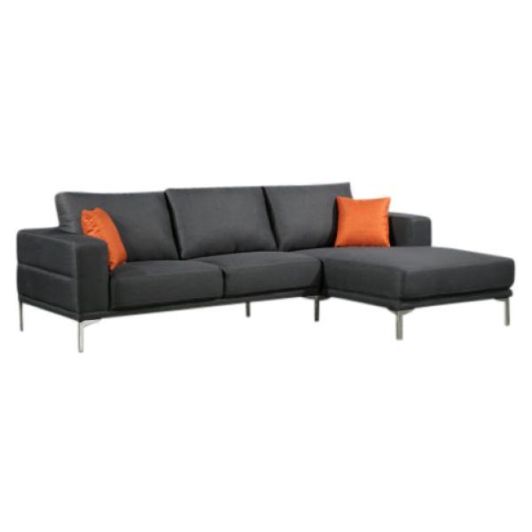 Dallas chaiselong sofa mørkegrå højrevendt