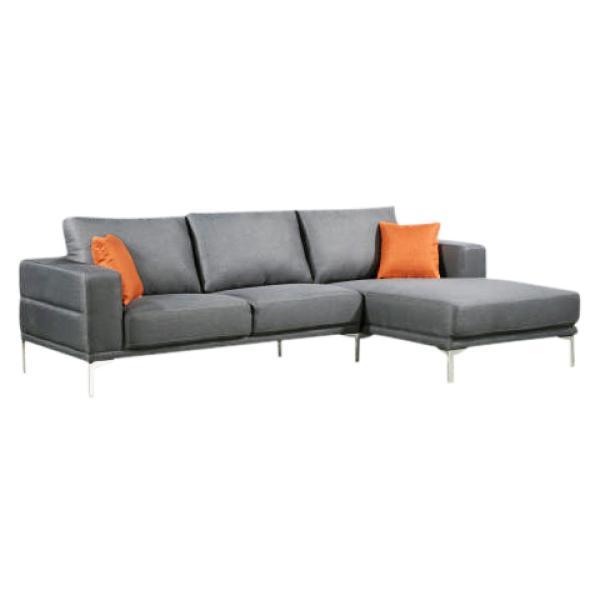 Dallas chaiselong sofa lysegrå højrevendt