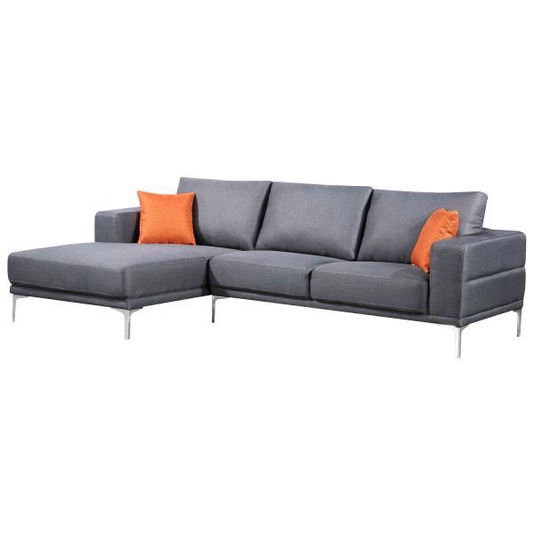 Dallas chaiselong sofa lysegrå venstrevendt