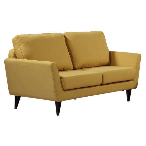 Napoli 2 pers sofa karrygul