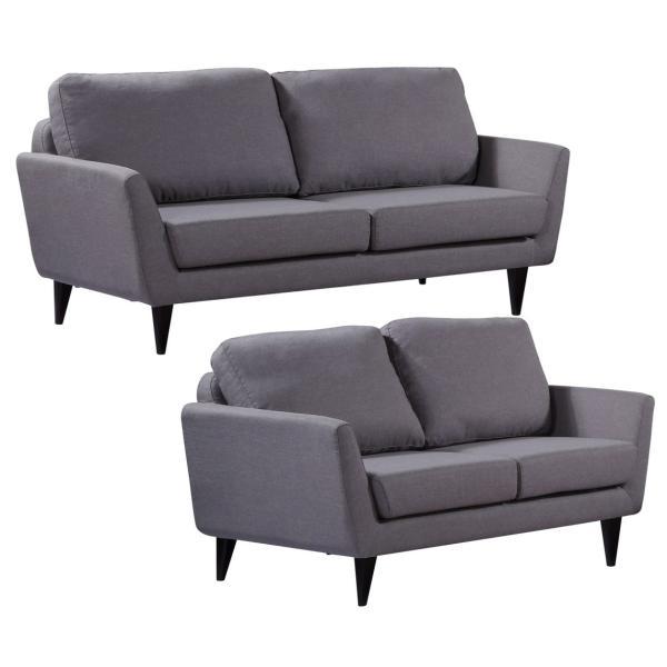 Napoli 2+3 pers. sofa lysegrå