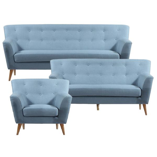 Padova 1+2+3 pers. sofa dueblå