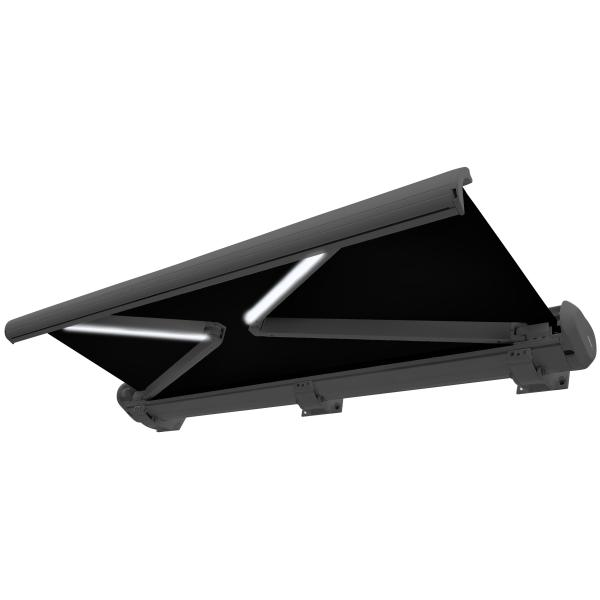 Essence Premium LED lukket 450x300cm antracitgrå/sort
