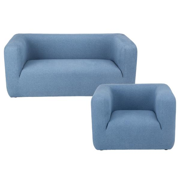 Kingston 1+2 pers sofa blå