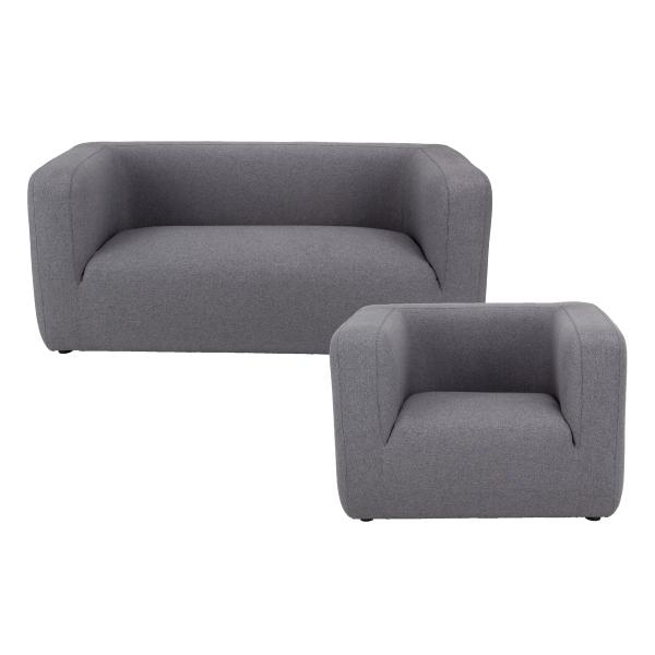 Kingston 1+2 pers sofa grå