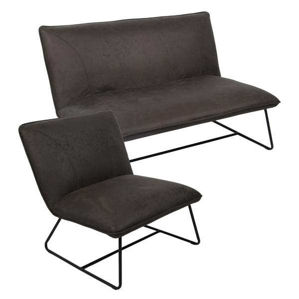 Albany 1+2 pers. sofa mørkegrå