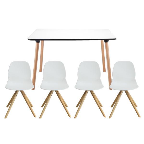 Enrique spisebordssæt 120x80cm hvid