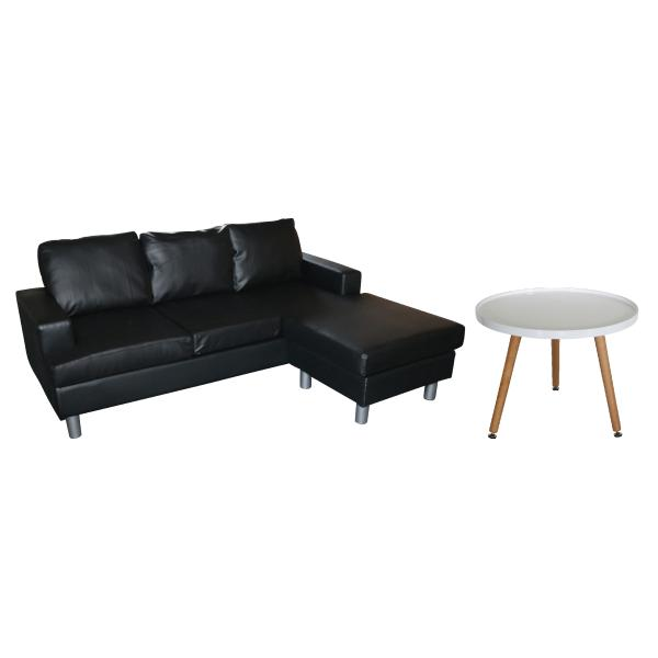 Boston chaiselong sofa + Madrid sofabord