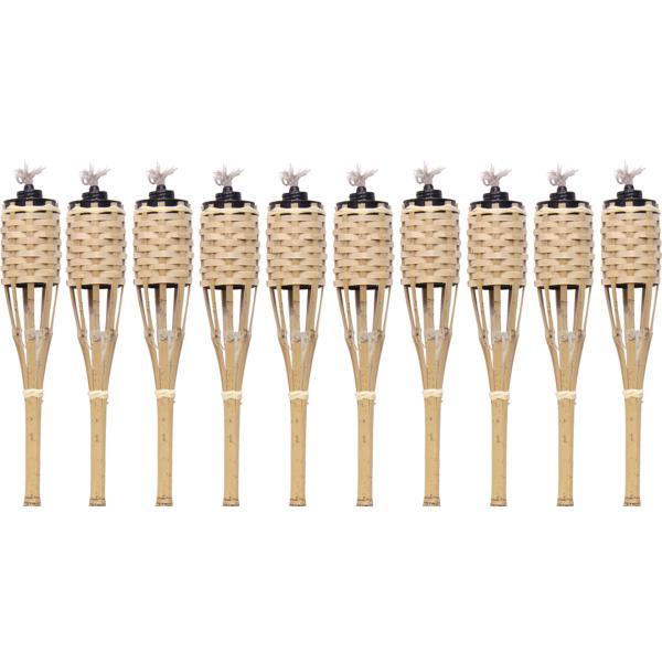 Natur bambus fakkel 60cm 10stk. fakkel