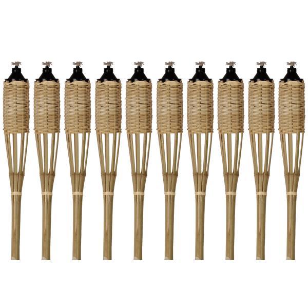 Natur bambus fakkel 150cm 10stk. fakkel