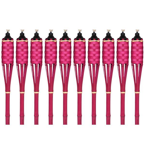 Lyserød bambus fakkel 150cm 10stk. fakkel
