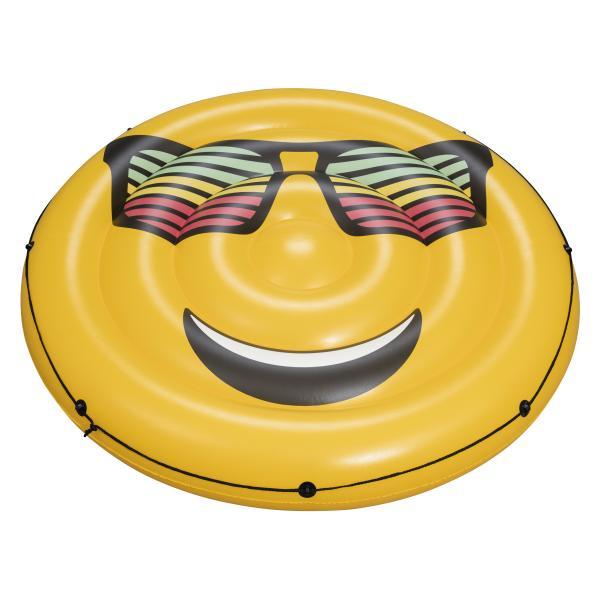 Oppustelig madras smiley gul