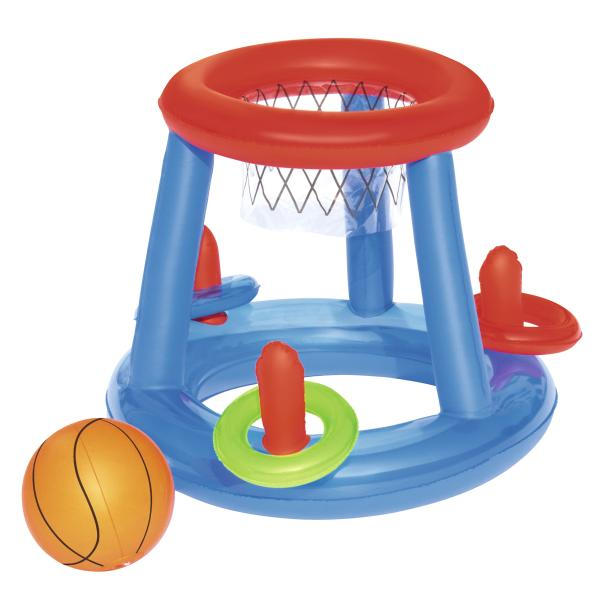 Oppustelig basketballsæt