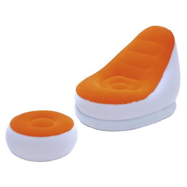 Bestway Comfort Cruiser inkl. skammel orange 122x94x81cm