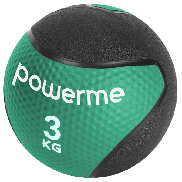 Powerme medicinbold 3kg grøn/sort