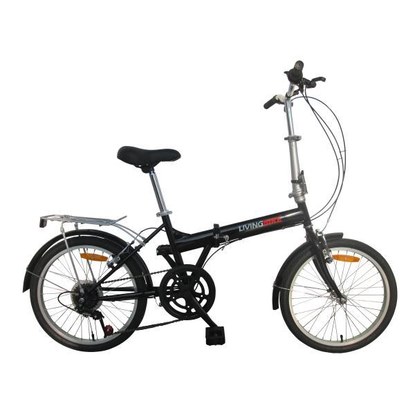 """Foldecykel 20"""" stål 6 udv. gear sort"""