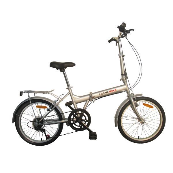 """Foldecykel 20"""" stål 6 udv. gear sølv"""