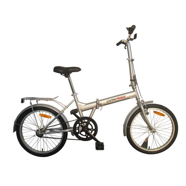 """Foldecykel 20"""" alu 1 gear sølv"""