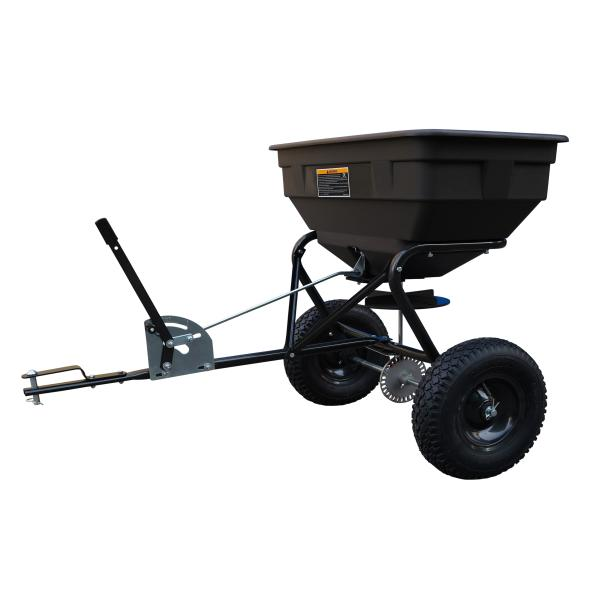 Centrifuge spreader for tractor lawn tractor