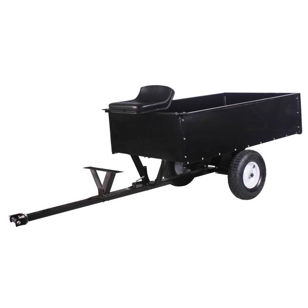 Trailer with seat tiller accessory